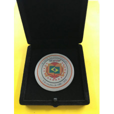 Medalha em acrílico e aço escovado  - MAAP0001