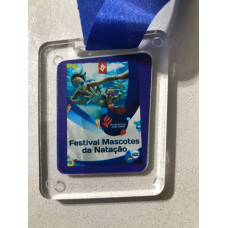 Medalha em acrílicol personalizada - MMP0013