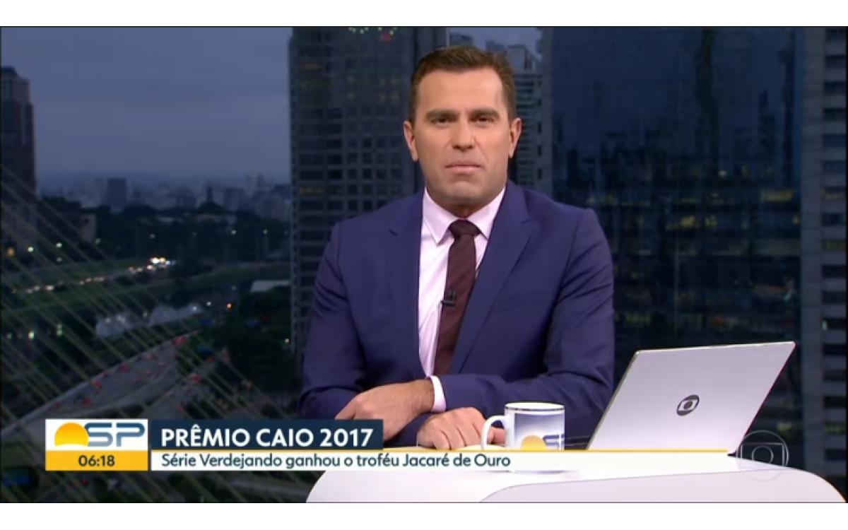 Premiação TV Globo - Série Verdejando ganhou o troféu Jacaré de Ouro 2017