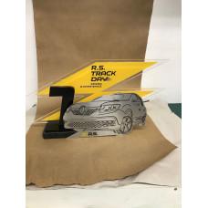 Troféu Personalizado em acrílico e aço escovado 12036
